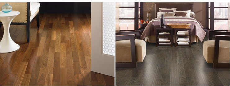 Mohawk hardwood living room bedroom floors